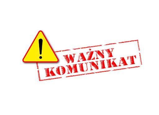 Komunikat - zawieszenie działalności Hali Sportowej
